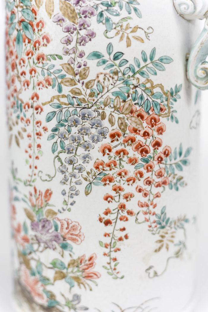 lampes faïence kyo yaki satsuma fleurs