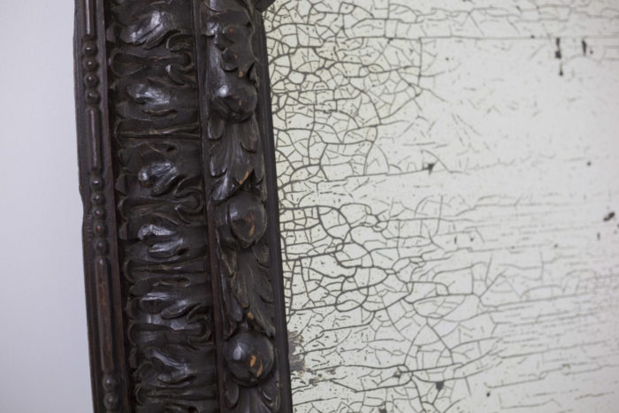 miroir bois noirci feuilles d'acanthe