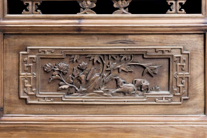 portes style chinoisant paysages buffles