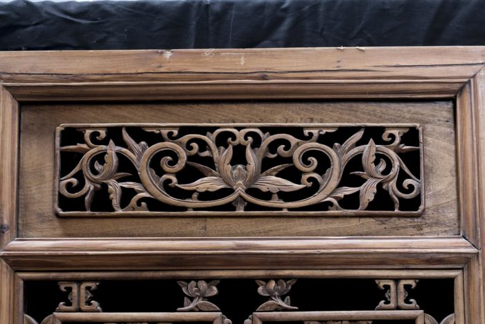 portes style chinoisant rinceaux feuillagés