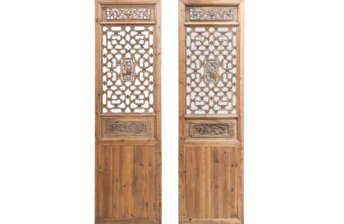 portes style chinoisant sapin