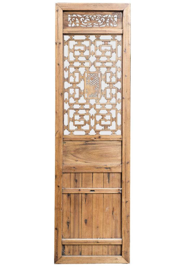 portes style chinoisant sapin dos