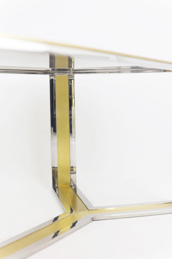 table laiton doré argenté pied