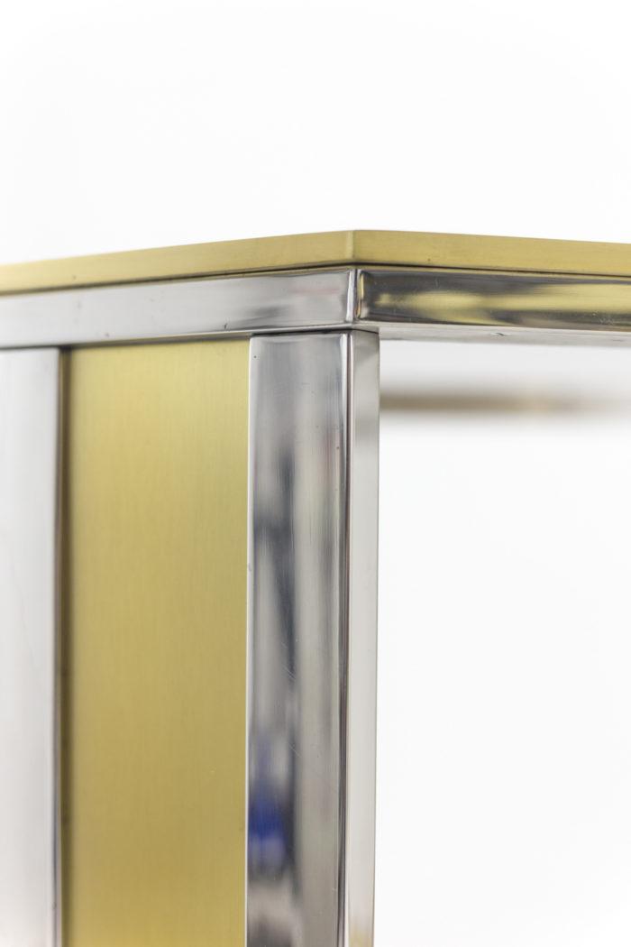 table laiton doré argenté romeo rega style pied