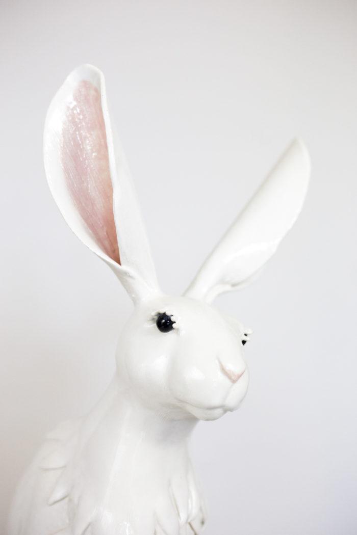 valérie courtet sculpture lapin tête