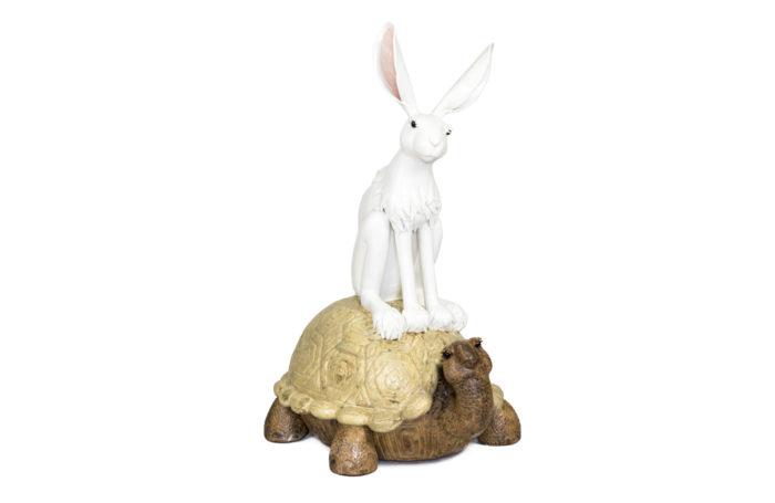 valérie courtet sculpture rabbit tortoise
