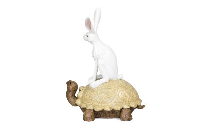 valérie courtet sculpture lapin tortue side 2