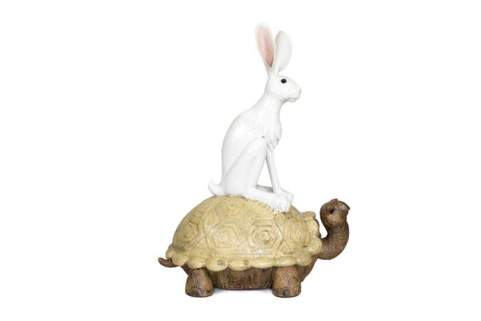 valérie courtet sculpture lapin tortue side