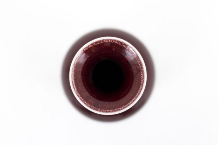 vases porcelaine rouge sang-de-boeuf liseré blanc