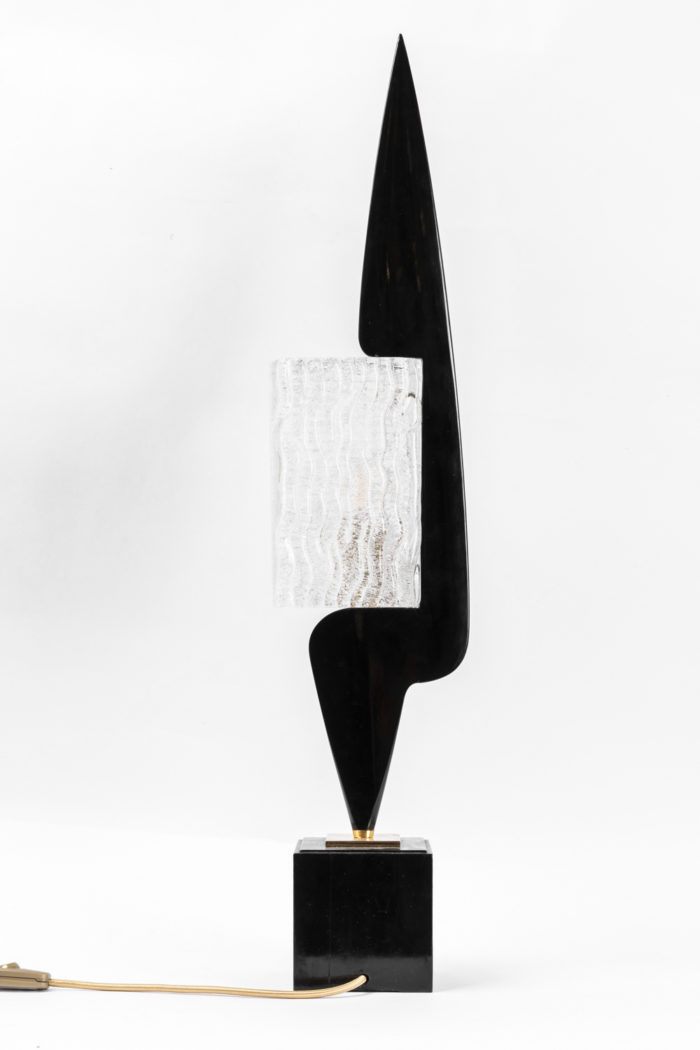 arlus lamp black lacquered wood glass