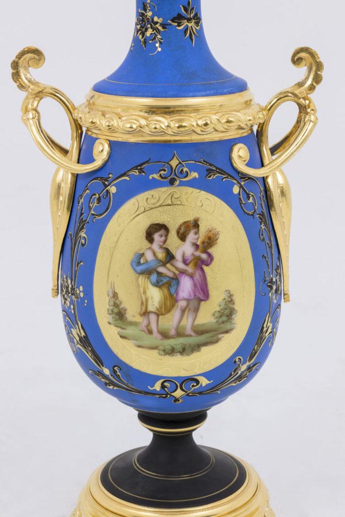 lampe medaillon allegorie moisson