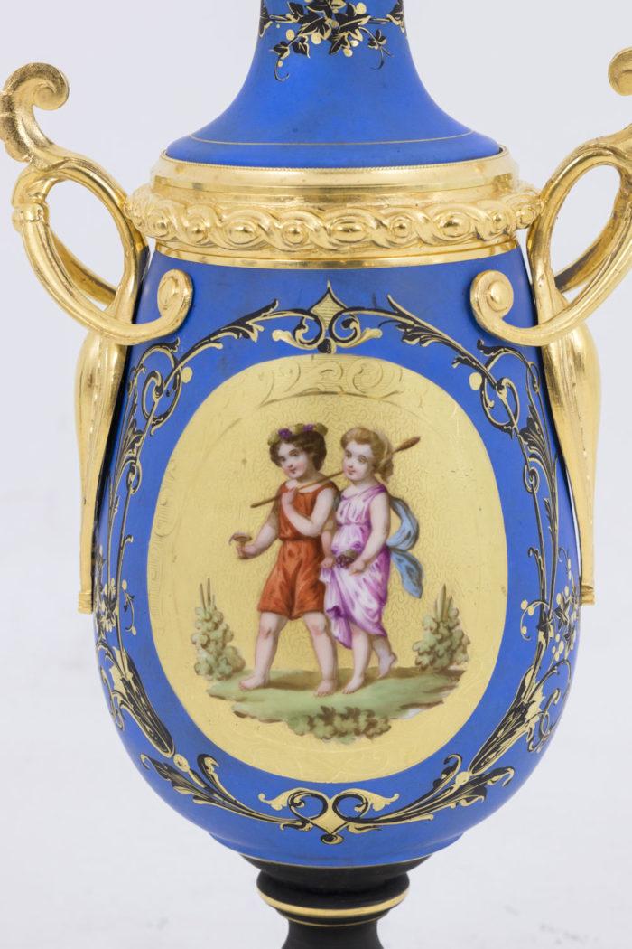 lampe medaillon allegorie vendanges