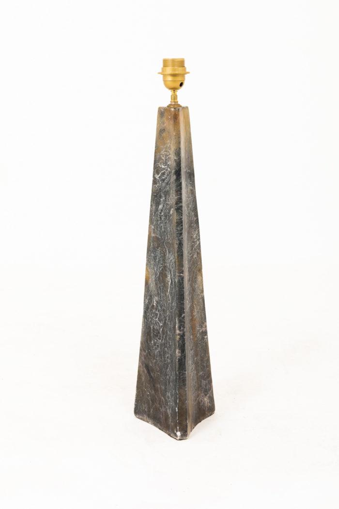 lampe onyx conique triangulaire