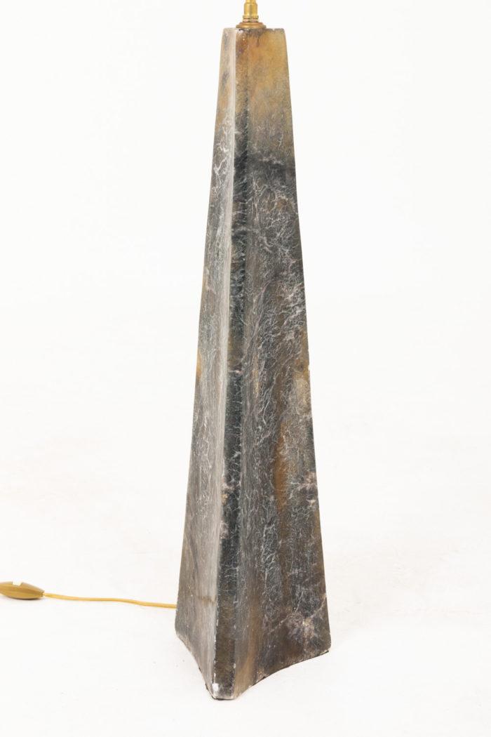 lampe onyx gris jaune blanc