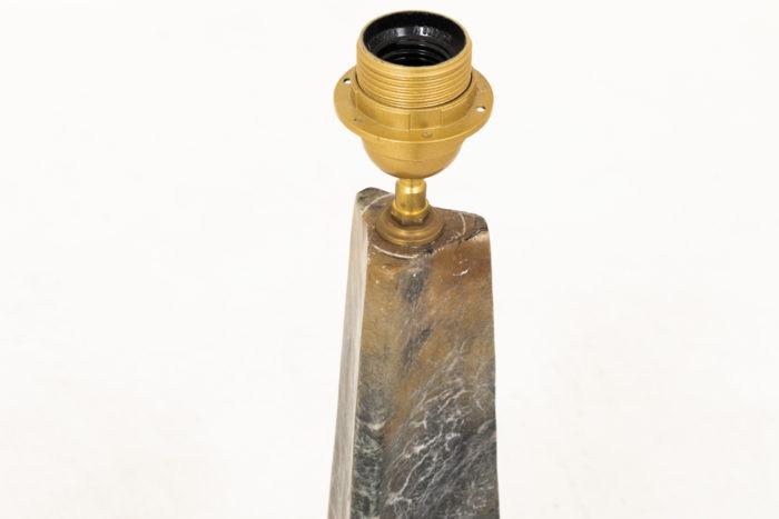 lampe onyx triangulaire jaune