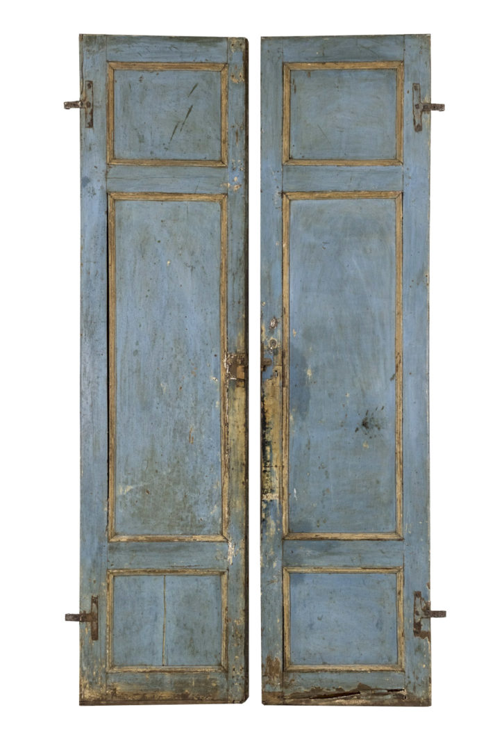 portes italiennes bois peint dos