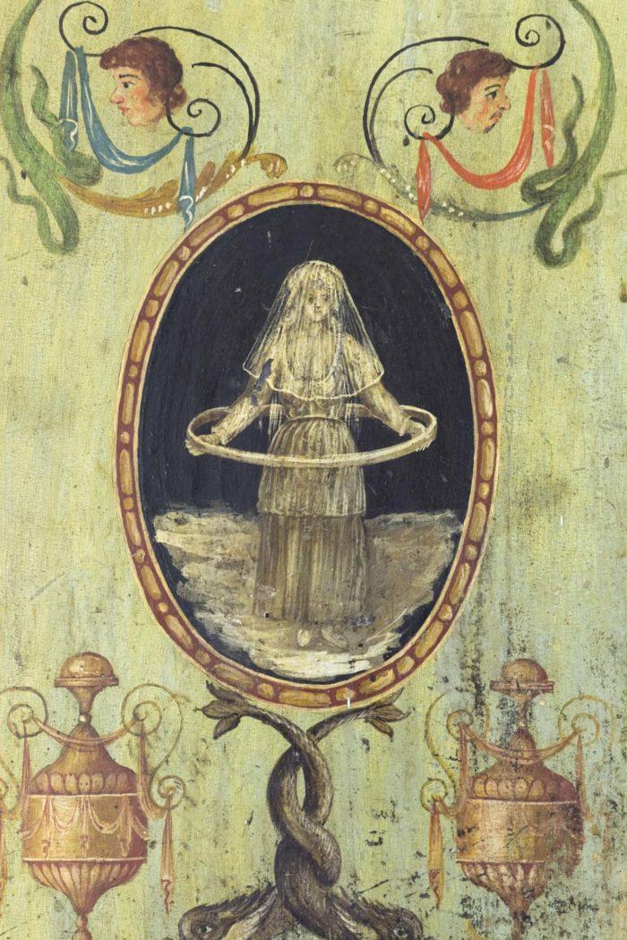 portes italiennes décor grotesques médaillon