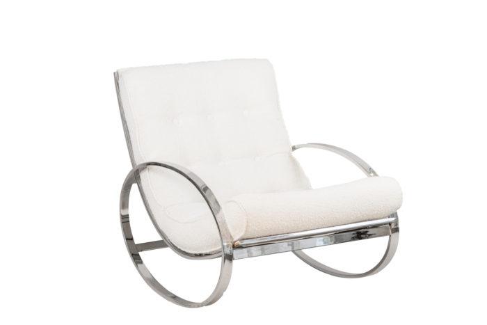 renato zevi rocking chairs ellipse métal chromé angle