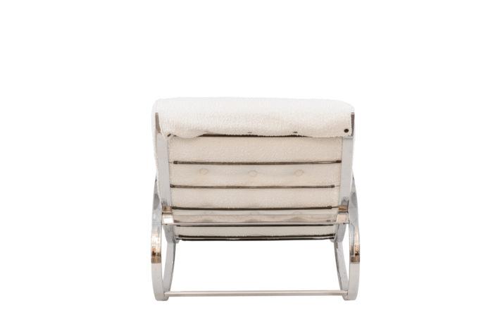renato zevi rocking chairs ellipse métal chromé back