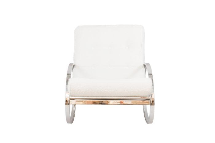 renato zevi rocking chairs ellipse métal chromé face