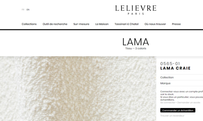 renato zevi rocking chairs tissu lelièvre lama craie