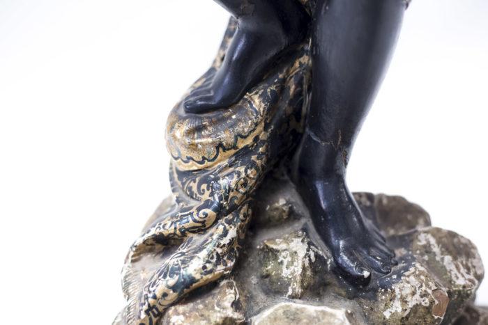 sellette nubienne bois peint pieds
