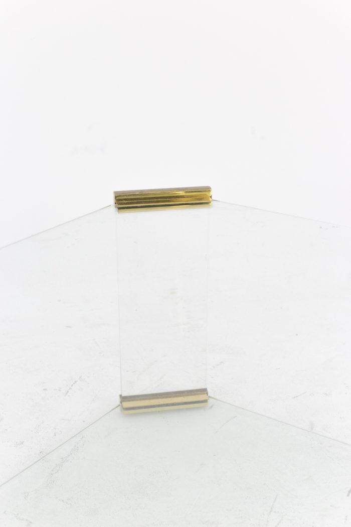 table basse verre detail pans coupés