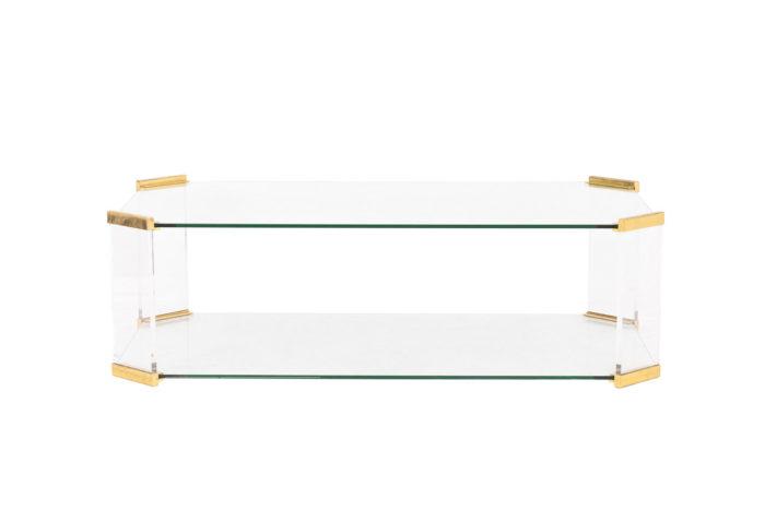 table basse verre pans coupés bronze pcple