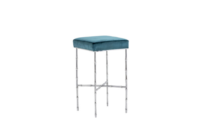 bamboo stool silvered bronze