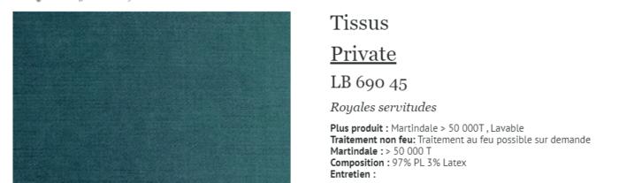 tabouret bambou tissu élitis private royales servitudes