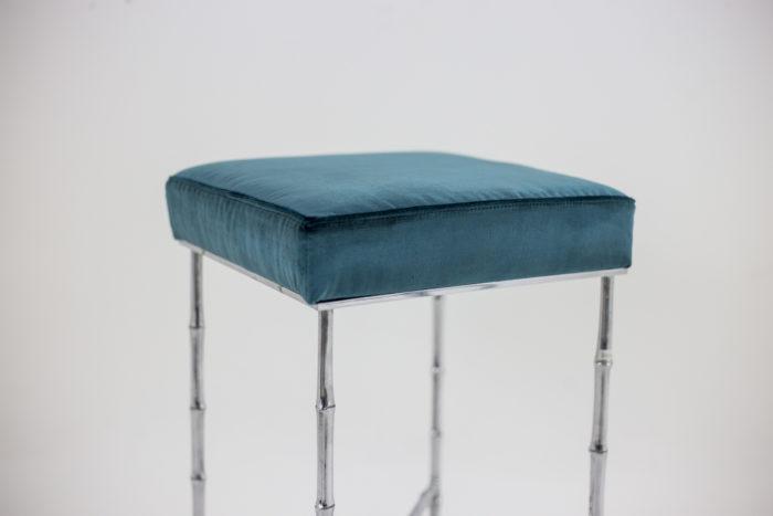 tabouret bronze argenté assise