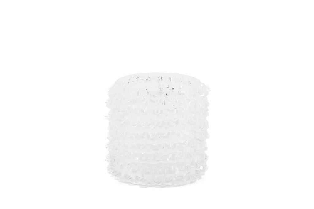 Toso Murano, Petit vase en verre transparent, travail contemporain