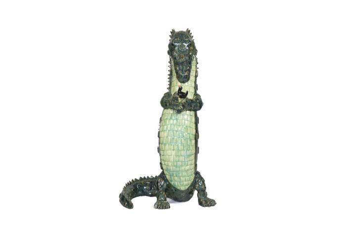 valérie courtet sculpture crocodile bird face