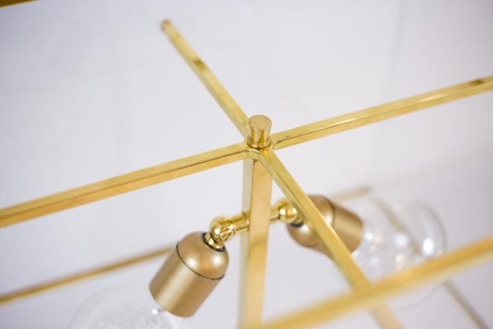 lampe bronze doré lucite abat-jour