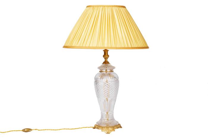 lampe cristal bronze doré