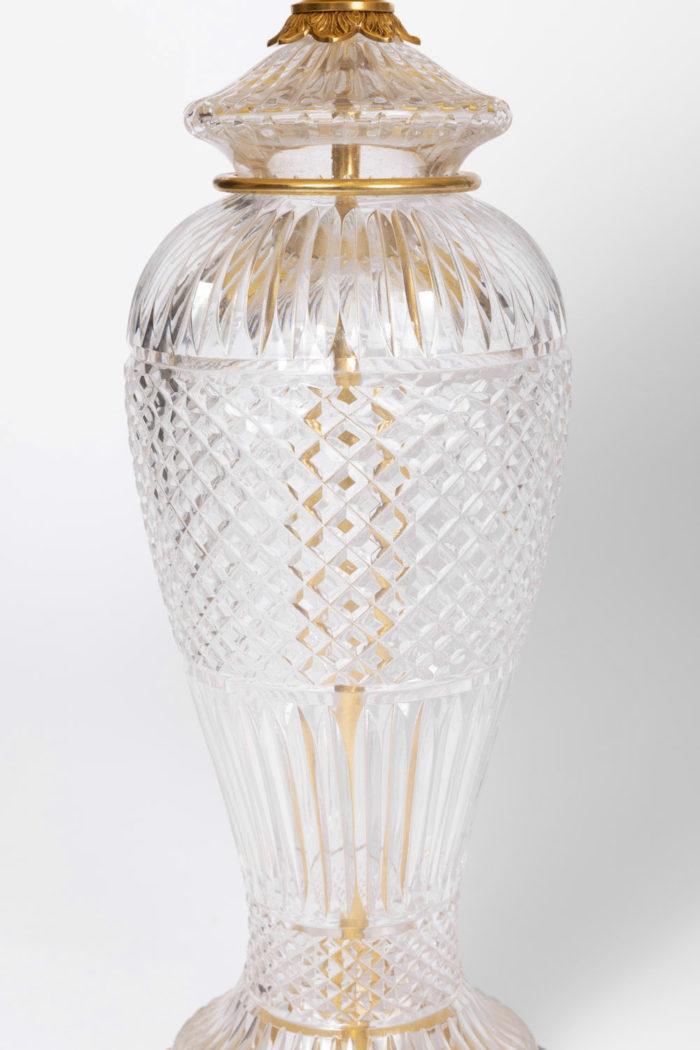 lampe cristal forme balustre
