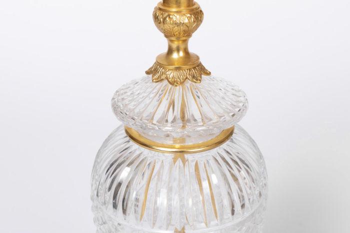 lampe cristal taillé canaux
