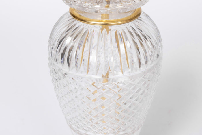 lampe cristal taillé diamant canaux