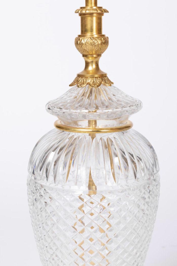 lampe cristal taillé pointe de diamant