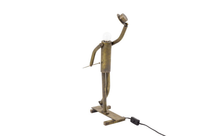 lamp dancer music hall patinated brass