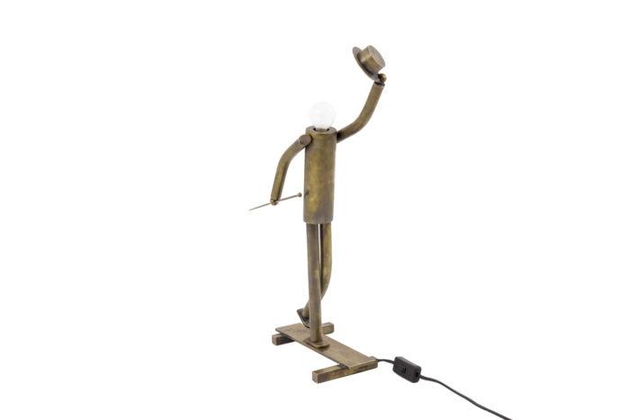 lamp dancer music hall patinated brass