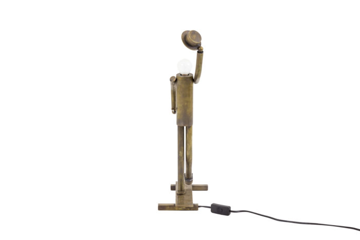 lamp dancer music hall patinated brass face