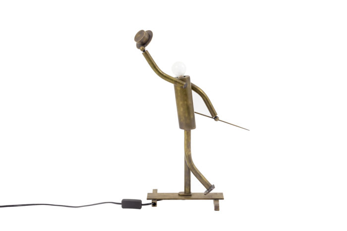 lamp dancer music hall patinated brass side 2