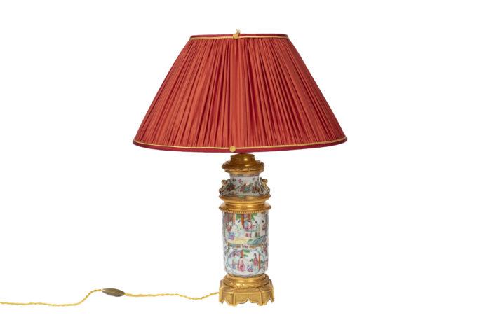 lampe porcelaine canton bronze doré