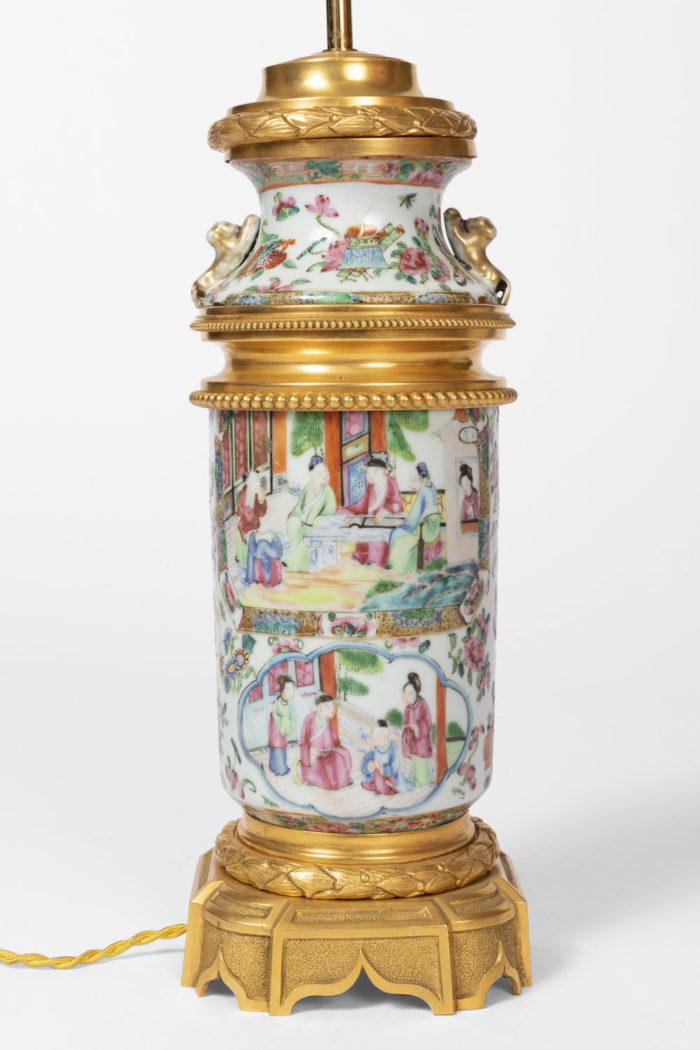 lampe porcelaine chinoise scène de palais