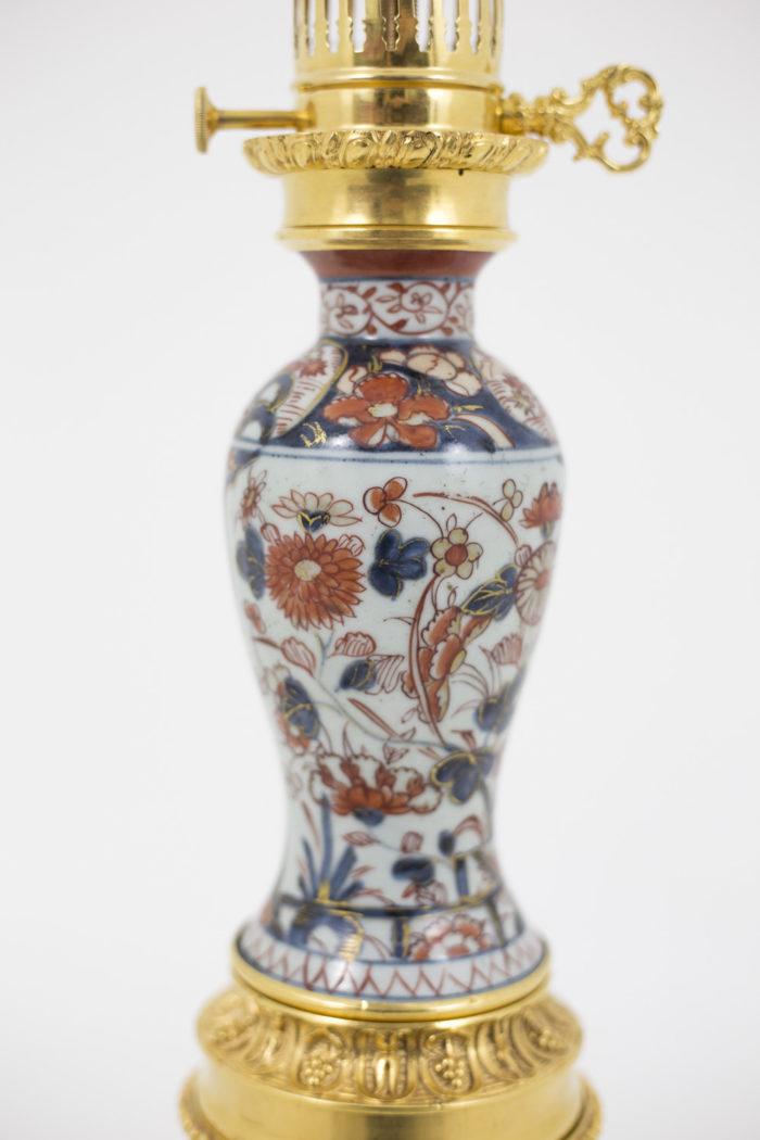lampe porcelaine imari balustre décor