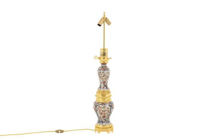 lampe porcelaine imari bronze doré (2)