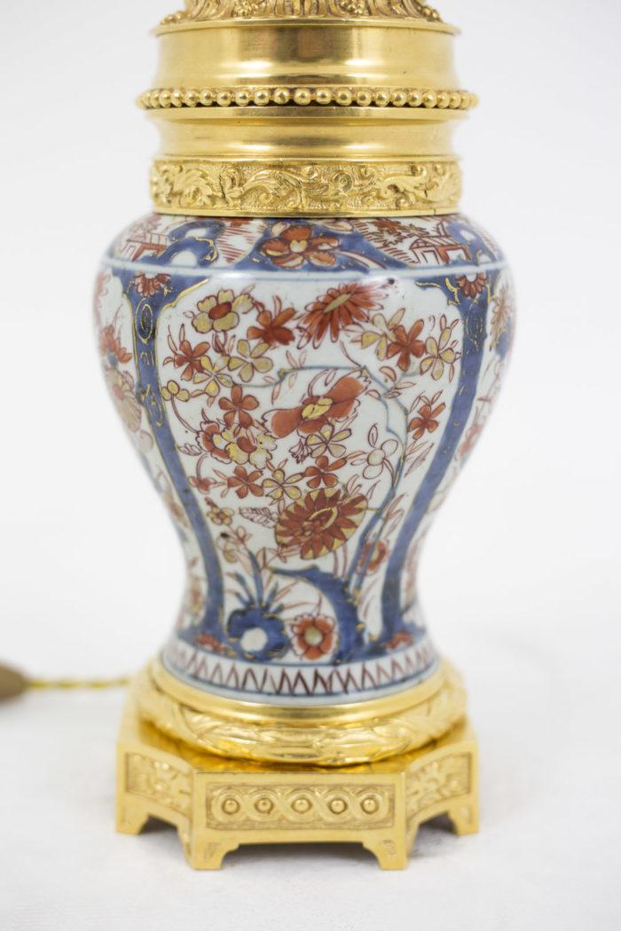 lampe porcelaine imari décor fleurs