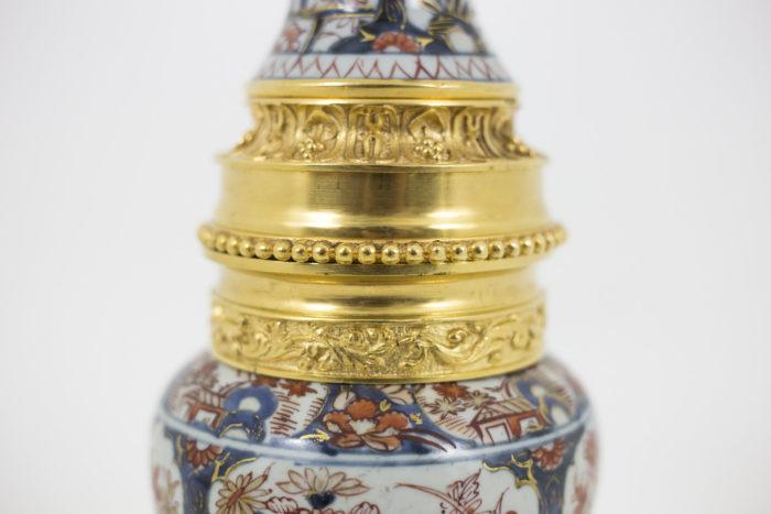 lampe porcelaine imari monture centrale