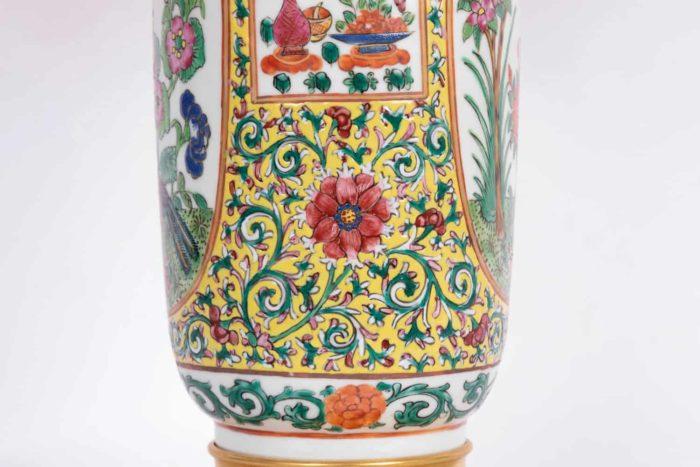 lampe porcelaine samson détail rinceaux